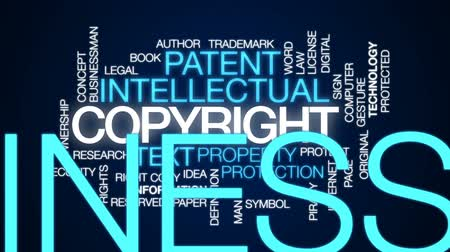 piracy : Copyright animated word cloud, text design animation. Stock Footage