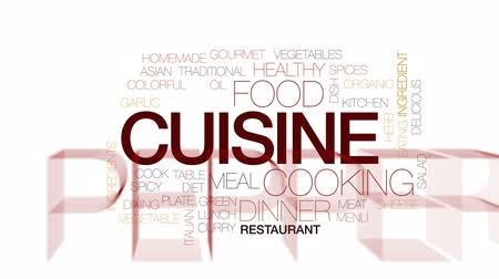 карри : Cuisine animated word cloud, text design animation. Kinetic typography. Стоковые видеозаписи