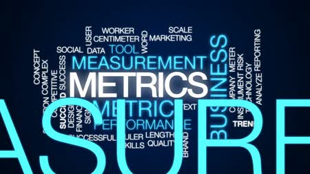 metrik : Metrics animated word cloud, text design animation.