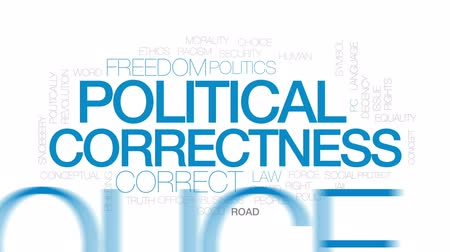 etyka : Political correctness animated word cloud, text design animation. Kinetic typography.
