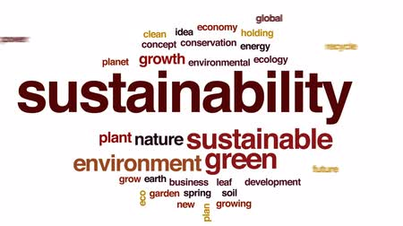 reciclagem : Sustainability animated word cloud, text design animation.