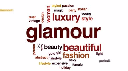 diamantes : Glamour animated word cloud, text design animation.