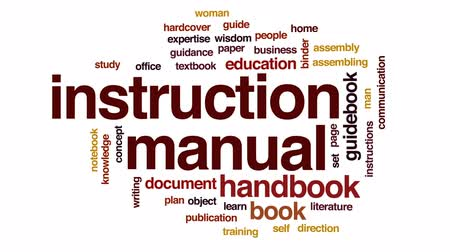 ciltli : Instruction manual animated word cloud, text design animation.