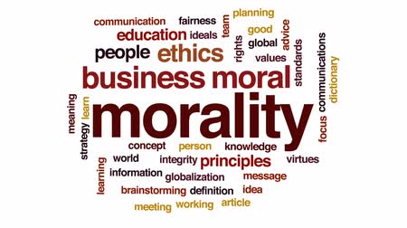 significado : Morality animated word cloud, text design animation.