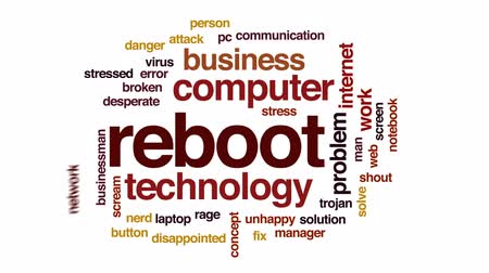 desperate : Reboot animated word cloud, text design animation.
