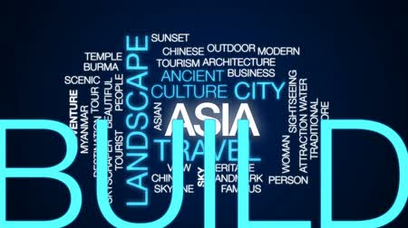 Бирма : Asia animated word cloud, text design animation.