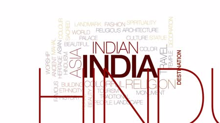 sagrado : India animated word cloud, text design animation. Kinetic typography.