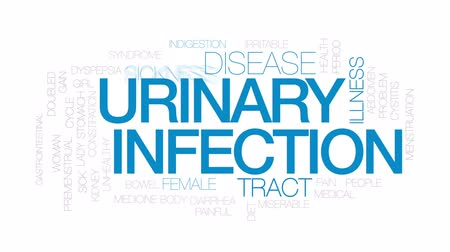 dyspepsia : Urinary infection animated word cloud, text design animation. Kinetic typography. Stock Footage