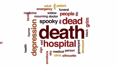 grim : Death animated word cloud, text design animation.