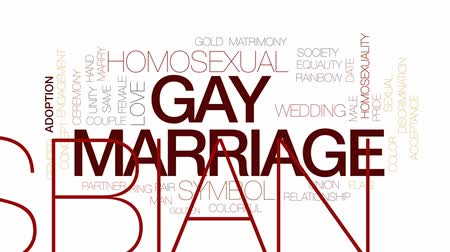 lesbijki : Gay marriage animated word cloud, text design animation. Kinetic typography.