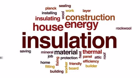 ludzik : Insulation animated word cloud, text design animation.
