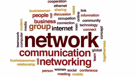 összekapcsol : Network animated word cloud, text design animation.