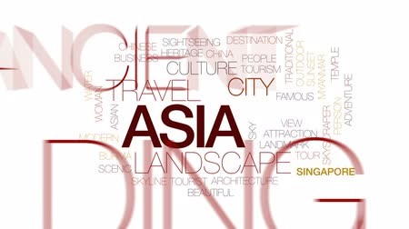 Бирма : Asia animated word cloud, text design animation. Kinetic typography.