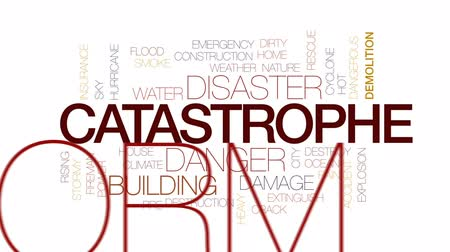rachaduras : Catastrophe animated word cloud, text design animation. Kinetic typography.