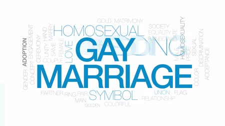 lesbian couple : Gay marriage animated word cloud, text design animation. Kinetic typography.