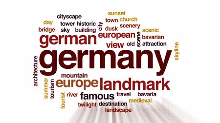 bavorské : Germany animated word cloud, text design animation. Dostupné videozáznamy