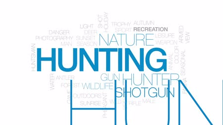 премия : Hunting animated word cloud, text design animation. Kinetic typography.