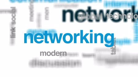 Network animated word cloud, text design animation.