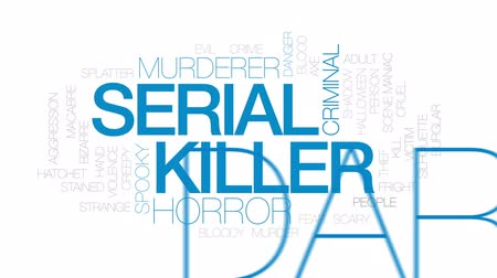 matança : Serial killer animated word cloud, text design animation. Kinetic typography. Stock Footage