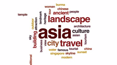 mianmar : Asia animated word cloud, text design animation.