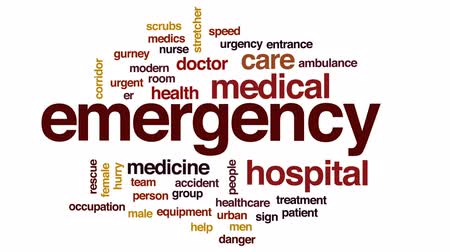 ér : Emergency animated word cloud, text design animation. Stock mozgókép
