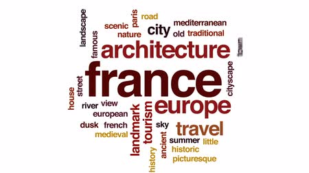 földközi tenger : France animated word cloud, text design animation.
