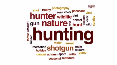 agancs : Hunting animated word cloud, text design animation.