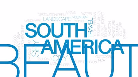 brezilya : South America animated word cloud, text design animation. Kinetic typography.