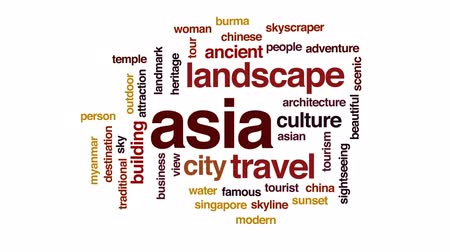 barma : Asia animated word cloud, text design animation.
