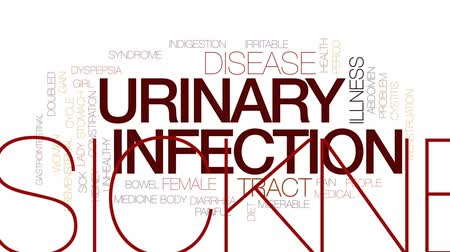 rim : Urinary infection animated word cloud, text design animation. Kinetic typography. Vídeos