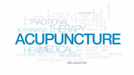 yin and yang : Acupuncture animated word cloud, text design animation. Kinetic typography.