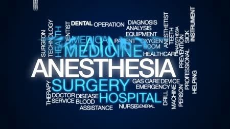 consciousness : Anesthesia animated word cloud, text design animation.