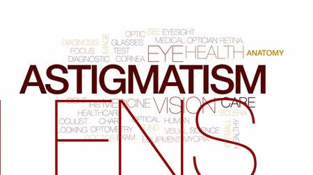 optyk : Astigmatis animated word cloud, text design animation. Kinetic typography. Wideo