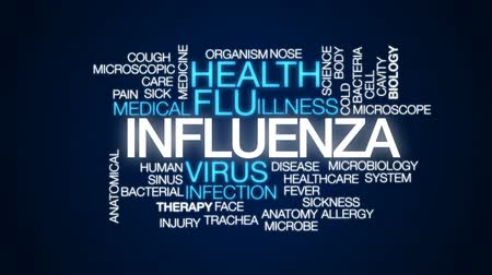 alergia : Influenza animated word cloud, text design animation. Vídeos