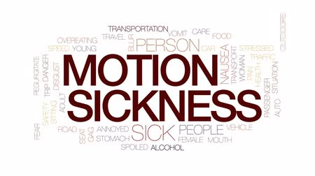 gag : Motion sickness animated word cloud, text design animation. Kinetic typography.