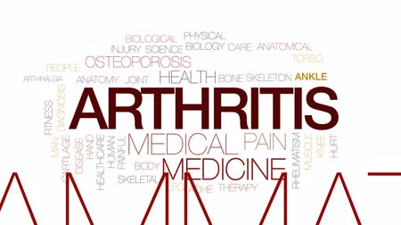 kosterní : Arthritis animated word cloud, text design animation. Kinetic typography.