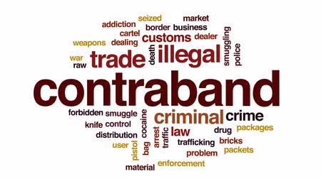 gümrük : Contraband animated word cloud, text design animation.