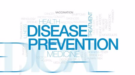 lekarstwo : Disease prevention animated word cloud, text design animation. Kinetic typography.