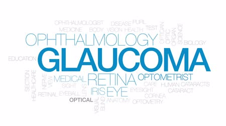 optyk : Glaucoma animated word cloud, text design animation. Kinetic typography.