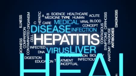 játra : Hepatitis animated word cloud, text design animation. Dostupné videozáznamy