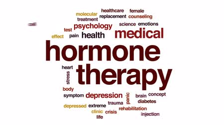 diyabet : Hormone therapy animated word cloud, text design animation.