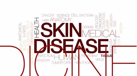 hair growth : Skin disease animated word cloud, text design animation. Kinetic typography.