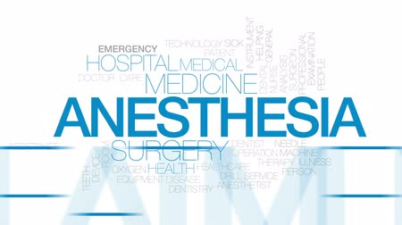consciousness : Anesthesia animated word cloud, text design animation.  Kinetic typography.