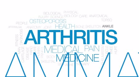 inflammation : Arthritis animated word cloud, text design animation.  Kinetic typography.