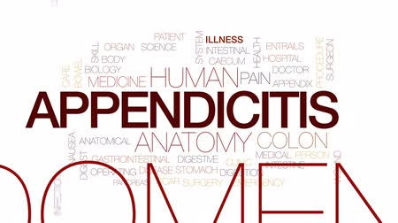 rana : Appendicitis animated word cloud, text design animation. Kinetic typography.