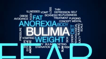давление : Bulimia animated word cloud, text design animation.