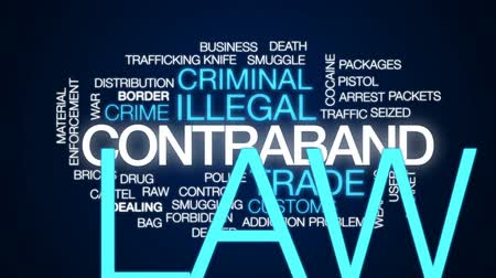 bolsa : Contraband animated word cloud, text design animation.
