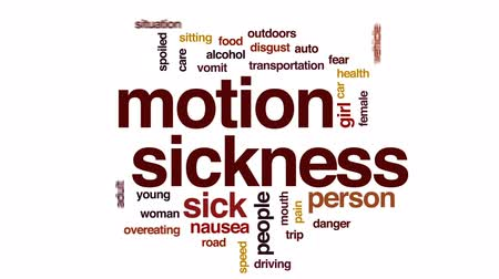 gag : Motion sickness animated word cloud, text design animation.