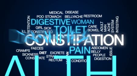 штамм : Constipation animated word cloud, text design animation.