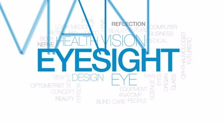 irys : Eyesight animated word cloud, text design animation. Kinetic typography. Wideo